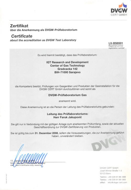 certifikat laboratorije